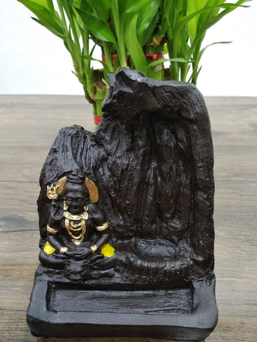 Lord SHIVA Bhole nath Smoke Reverse Backflow Cone Incense Holder Decorative Showpiece