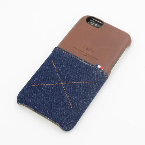 Back Cover - Genuine Kajsa Case For IPhone (Denim Styled)- Royal Blue