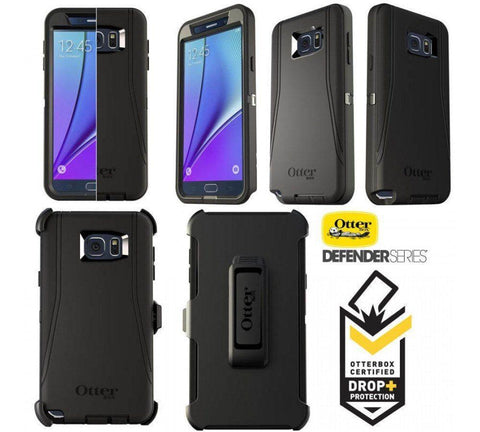 Back Cover - Otterbox Defender Rugged Case For Samsung Galaxy Note 5