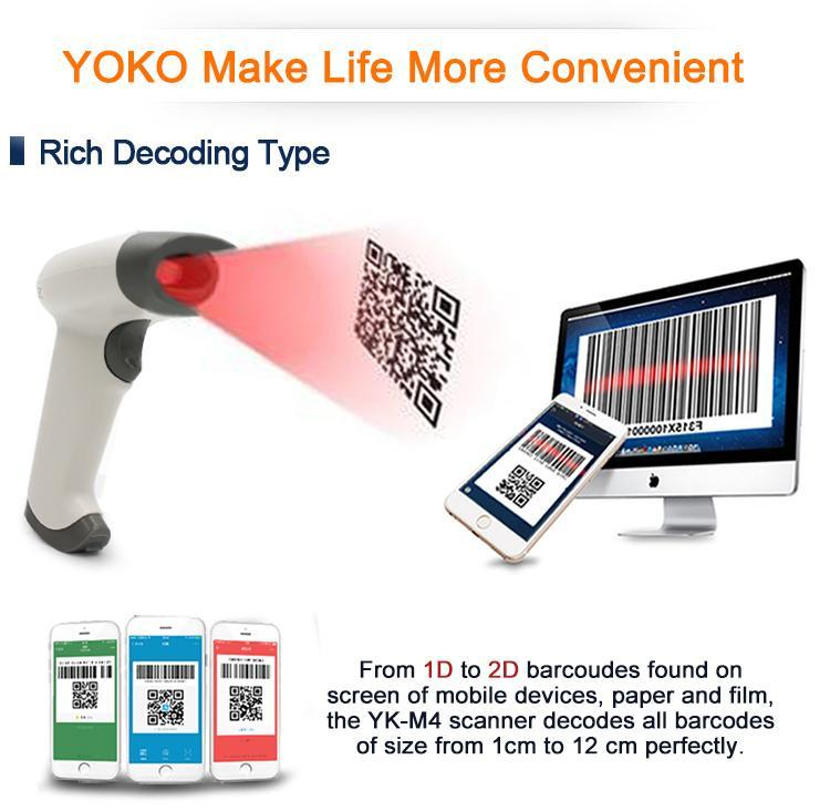 Barcode Scanner - TUZECH Laser 2D USB Handheld Barcode QR Scanner -Scans From Mobile - With Inbuilt Flash