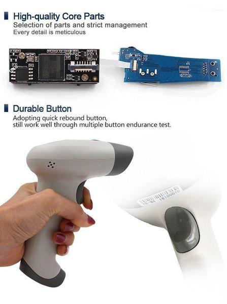 Barcode Scanner - TUZECH Laser 2D Wireless Barcode QR Scanner -Scans From Mobile - With Inbuilt Flash And Memory