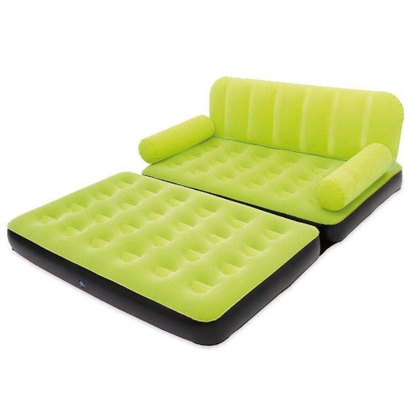 Bestway Large Inflatable Sofa Cum Bed - 5 In 1 (FREE PUMP )(LIMITED OFFER )(XXXL) GREEN
