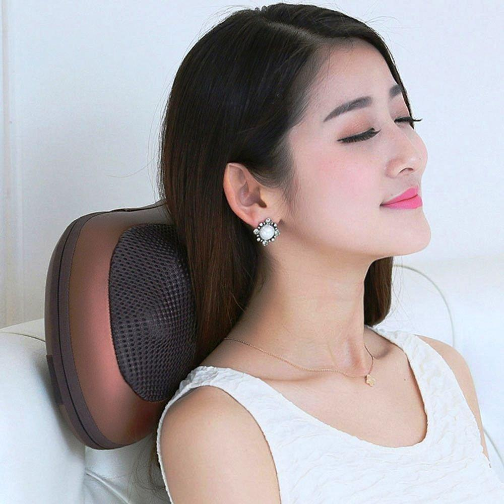 Body Massager - Car And Home Infrared Self Rotating-Rolling Hea-Shoulder-Neck Massager