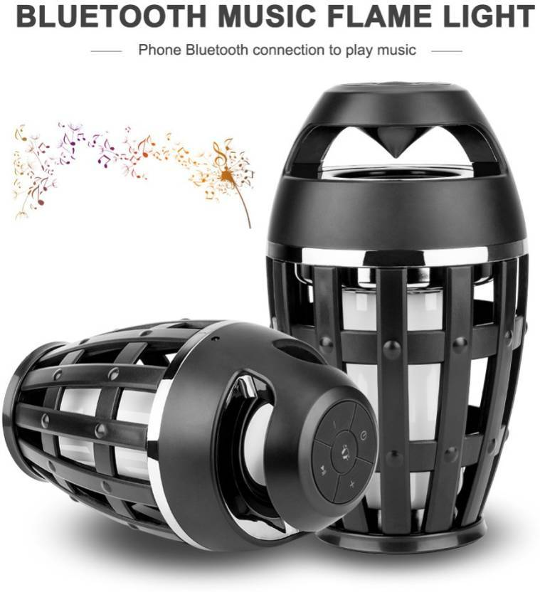 TUZECH Genuine Ultra Design Bluetooth Portable Speaker with Fire Led Flame Lights