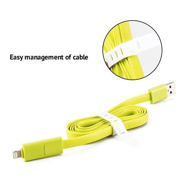 Cable - 2 In1 Data Charging Cable For Mobile  / Power Bank