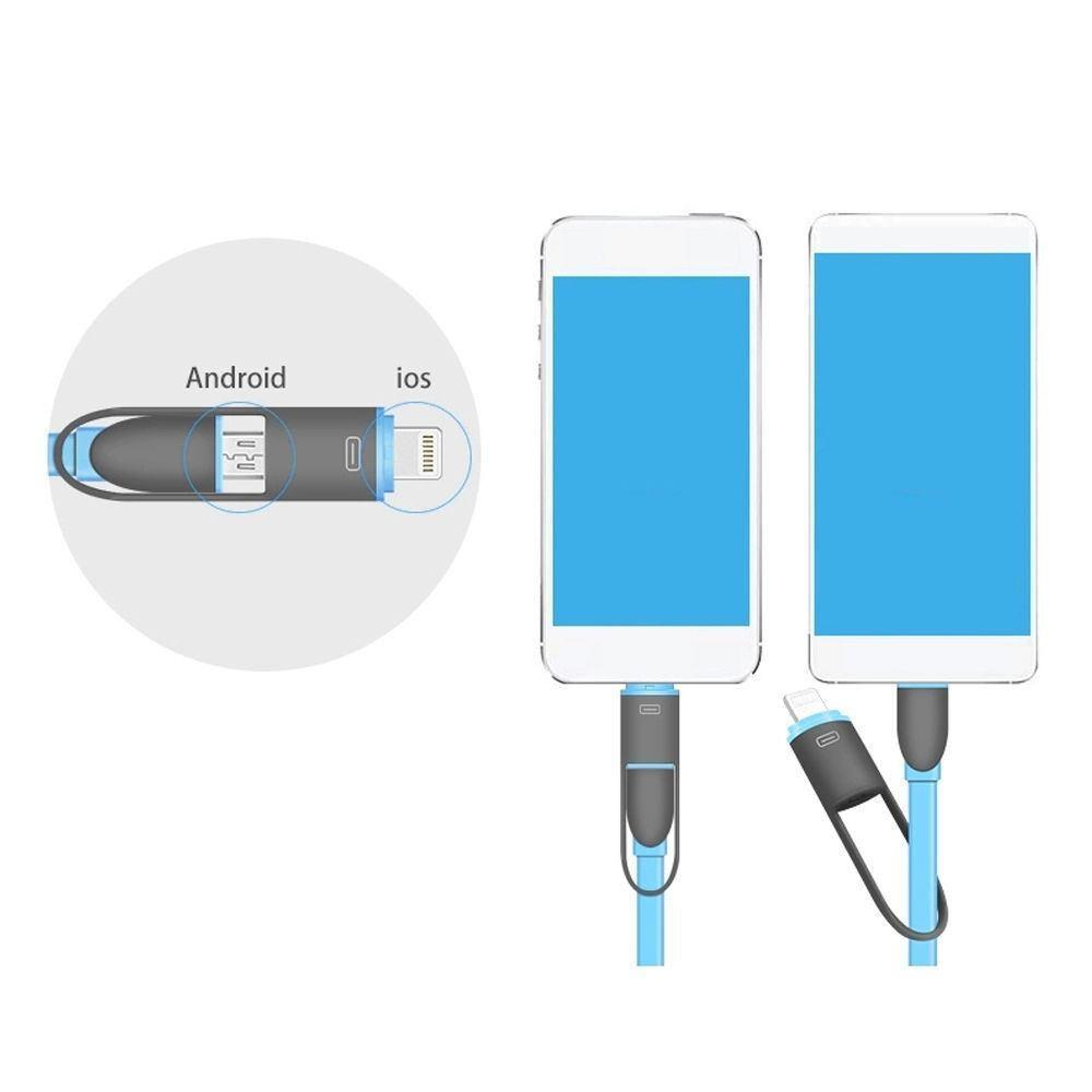 Cable - 2 In1 Multi-function Micro USB And Lighting Port For Apple / Samsung ( Mobile Cable) ( SELECT COLOUR HERE)