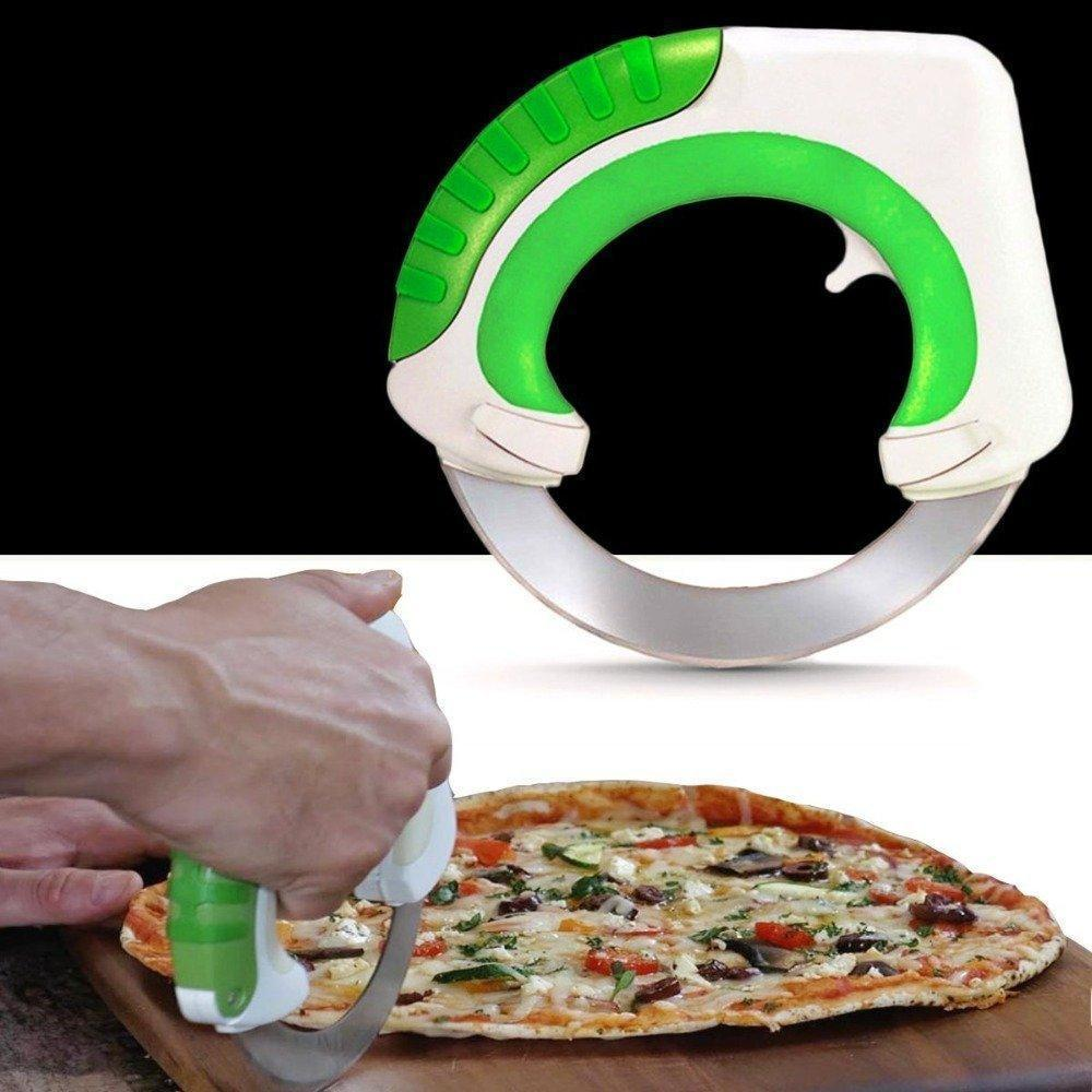 Chopper - Tuzech Rolling Innovative  Kitchen Chopper Circular Knife Makes Slicing And Dicing, Mince