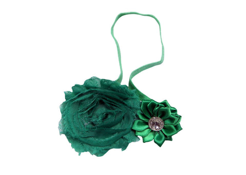 Cute GreenZy Floral Head Band