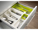 Cutlery - Tuzech High QualityDrawer Store Expandable Cutlery Tray - Green - Modern Home