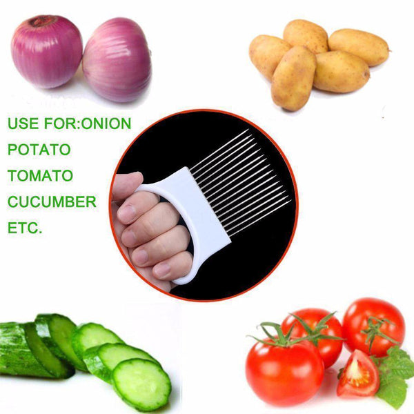Cutter - Easy Cut Potato,Onion,Cucumber,Tomato Holder Chopper Protection Kit