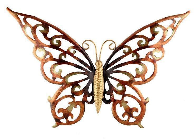 Cycle - Tuzech Metal Hollow Handmade Handicraft Gift Item Showpiece Wall Decor - Colourful Butterfly
