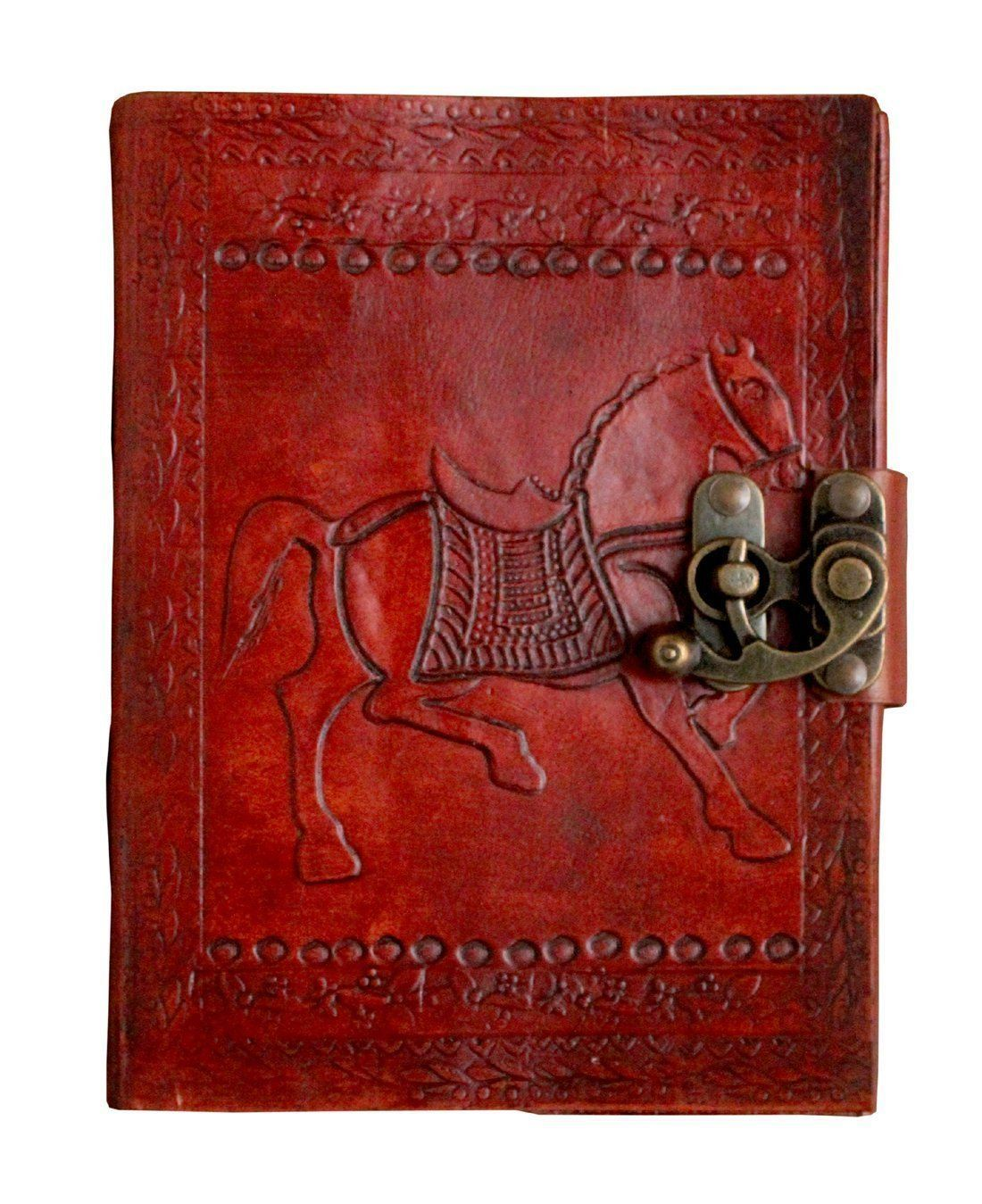 Diary - TUZECH Engraved Embossed Leather Diary Leather Journal Collection - More Than 12 Designs ( 7 Inches X 5 Inches)