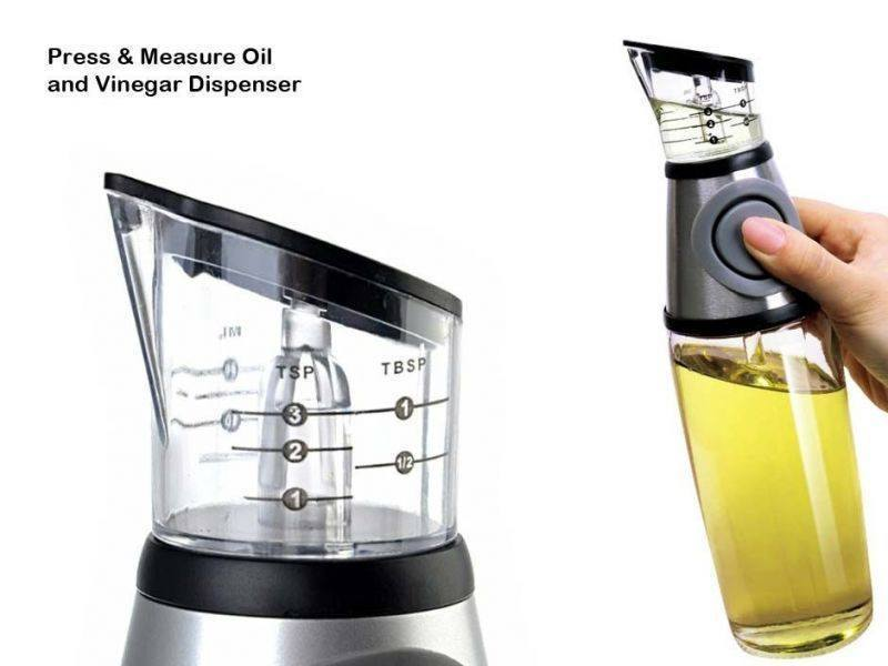 Dispenser - Buttoned Oil And Vinegar Dispenser Cum Measurer