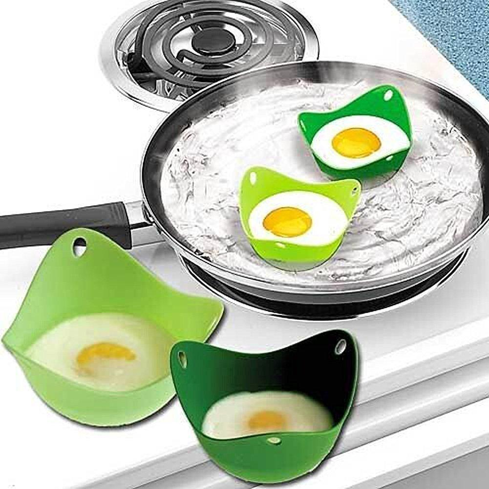 Egg Boiler - Egg Poacher –Oil Free Cups With Ring Standers, For Microwave Or Stove-top Egg Cooking,, BPA Free, Pack Of 4