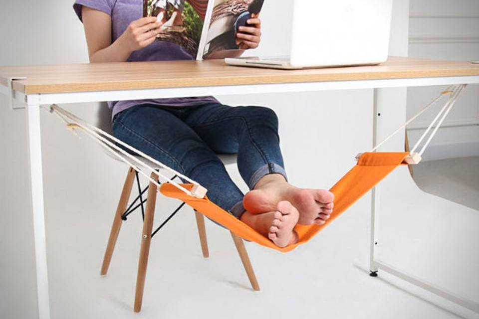 Feet Holder - Exclusive Tuzech Mini Office Foot Rest Stand Adjustable Desk Feet Hammock