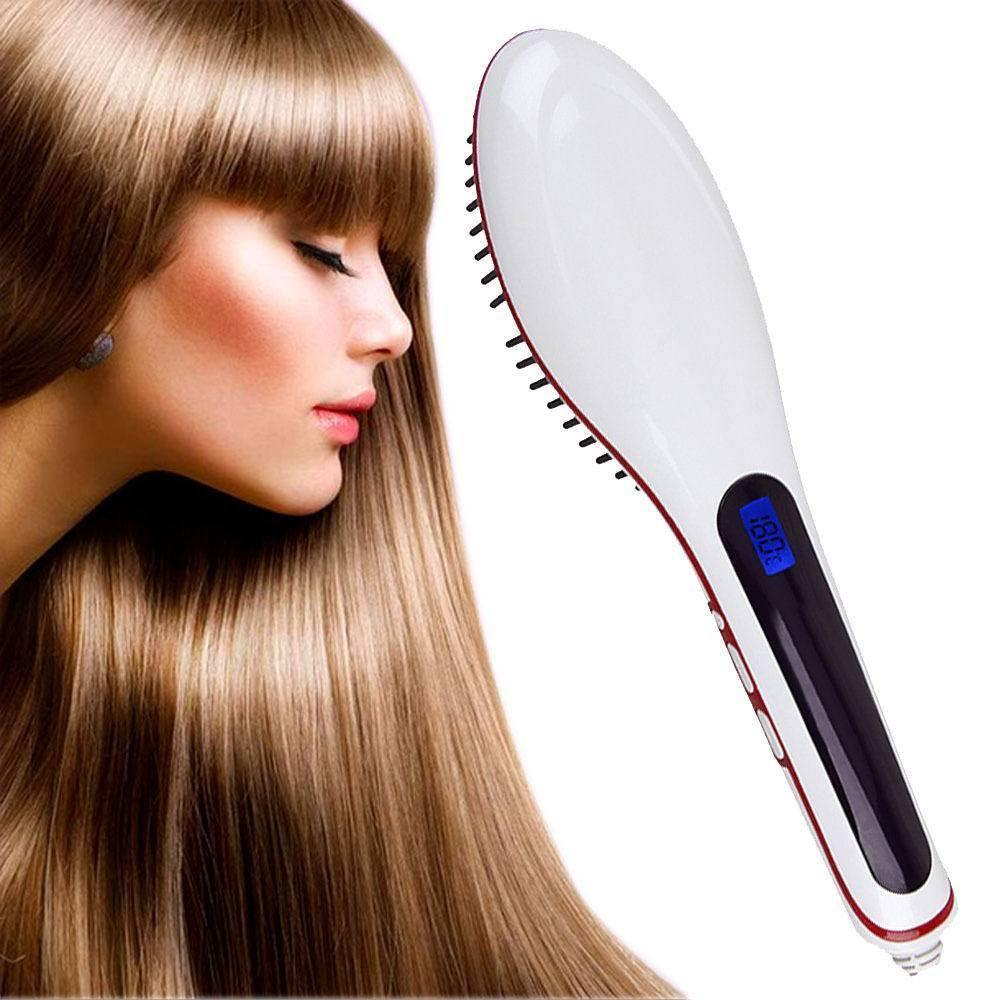 Hair - Hair Straightener Comb With Temperature Setting - For Men And Women