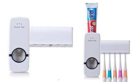 Home Improvement - Tuzech Automatic ToothPaste Dispenser With Brush Holder ( DEAL OF THE WEEK)