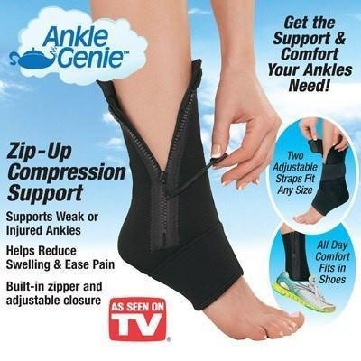 HOT SHAPER - Zippered Pain Relief Open Toe Ankle Socks/Gym Socks For Men And Women ( Black- Single Leg Only)