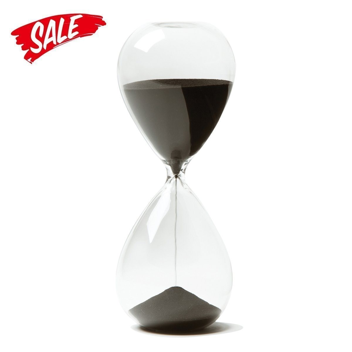 Hour Glass - Stress Releiver Magnetic Hour Glass With Wooden Base - Best To Gift