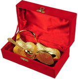 IN-INDIA Festival Gift Golden Plated Swan Shaped Bowl Set For New Year Gifting