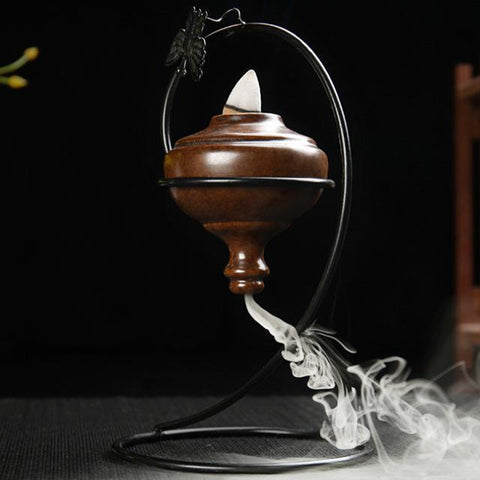 Incense Burner - Butterfly Large Vintage Styled Smoke Backflow Incense Holder Decorative Showpiece