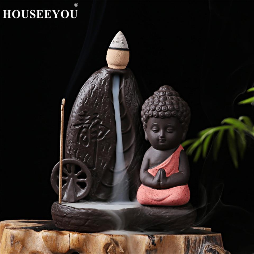 Incense Burner - Latest Reverse Incense Backflow Buddha Waterfall Burner Decorative Showpiece Gifting