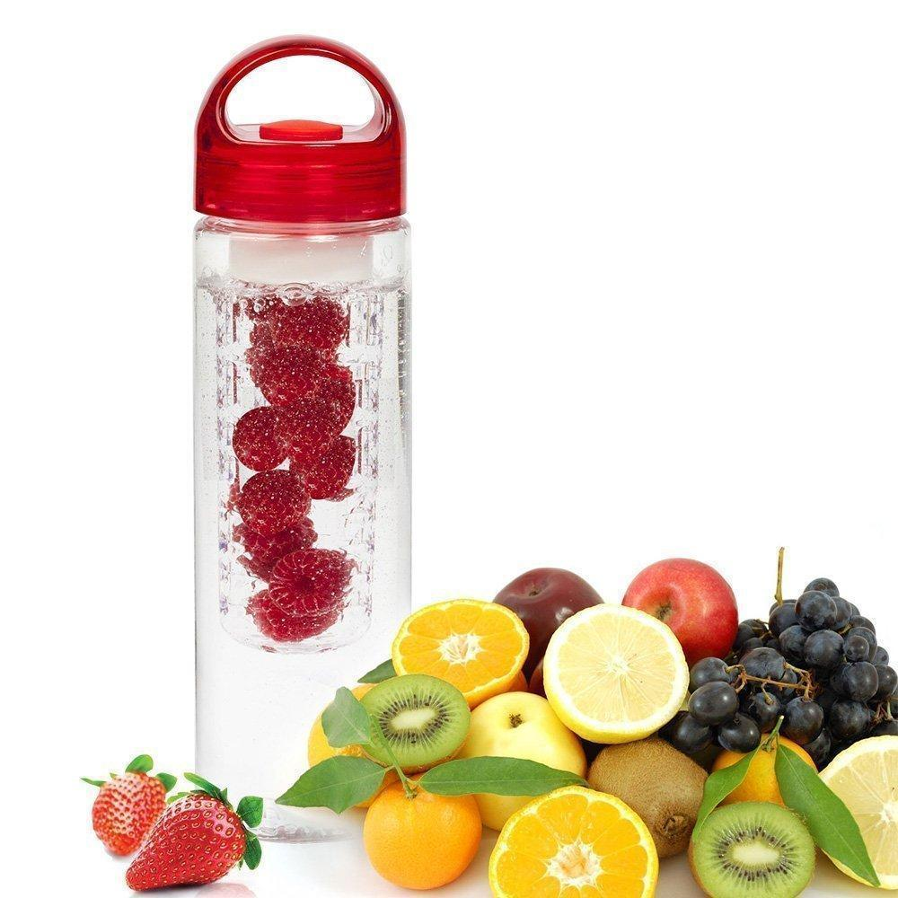 Juicer - Fruit Infuser Water Bottle Transparent Plastic Detox Drink Juice Bottle
