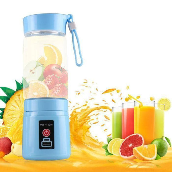 Juicer - IN INDIA Rechargeable And Portable Juicer And Protein Shaker  2000mAh Power Bank ( Mix Colour)