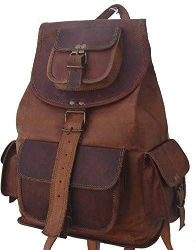 Leather - IN-INDIA Pure Leather Brown Travel Casual Ladies Leather Backpack