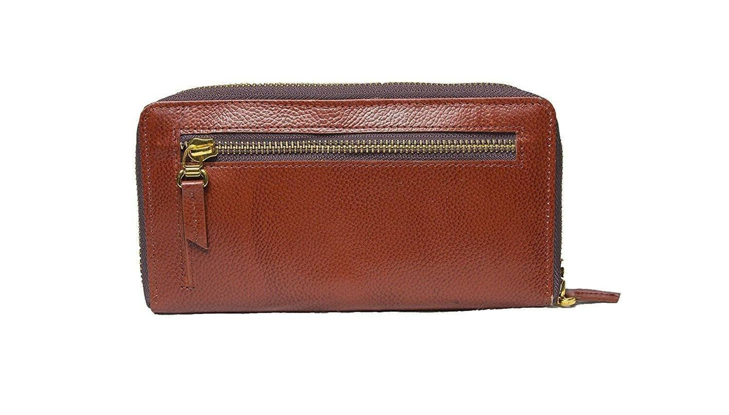 Leather - IN-INDIA Pure Leather Ladies/ Girls Daily Use Black Smart Classy Stylish Clutch / Purse