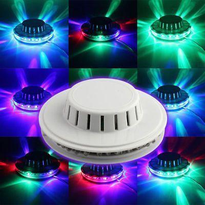 Led - Auto Color Changing Rotating 48 LED Sunflower Stage Light Wall Mount Lamp