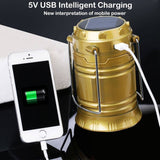 Led - Solar Power Rechargeable  Light With Phone Charger