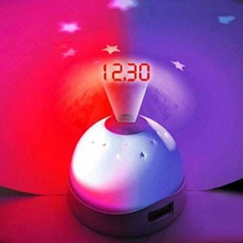 Led - Time Projection LED Digital Table Clock Sky Night Projector Lamp