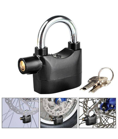 Locks - Security Electronic Alarm Lock For Home/Bike/Cars/Office (Multi-Purpose)(Loud Sound)