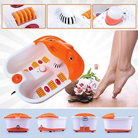 Massager - Foot Spa Massager-Heated Bath, Automatic Massage Rollers, Vibration,Bubbles/Pedicure