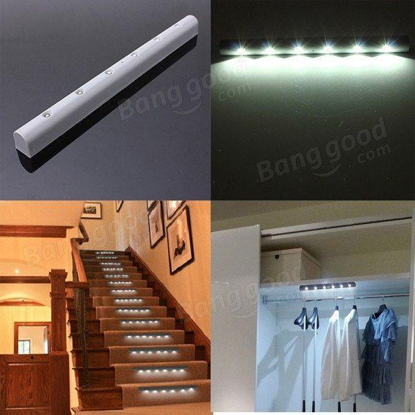 Motion Sensor Led - Ultrasmart 6 Led Motion Sensor Led Lamp Cold White (Indoor And Outdoor) ( Specialized For Staircase)
