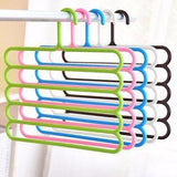 Organiser - Modern S-shaped 5 Layers  Saver Pants/Scarf/Towels Hanger For Wardrobe/ Storage (Set Of 2)