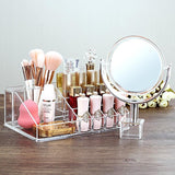 Stylish Makeup Cosmetics Jewelry Organizer Vanity Box with Handy Plug