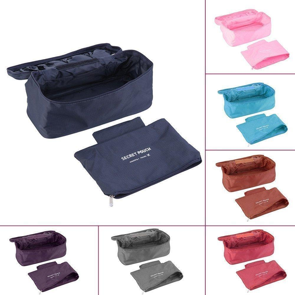 Organiser - Tuzech Undergarments Storage Bag With Removable Zipper Pouch/Travel Organiser- Random Colour