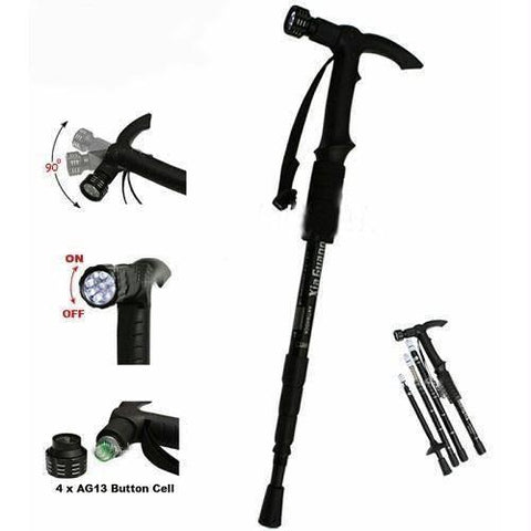 Other Accessories - Tuzech Adjustable Anti Shock Trekking Hiking Walking Stick Pole(With Out LED)