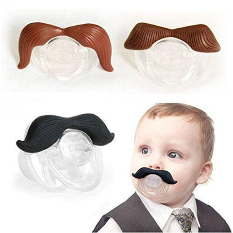 Pacifier - Mustache Pacifier For Babies Funny Gentleman- BPA-Free, Odorless, 100% Food-grade Silicone