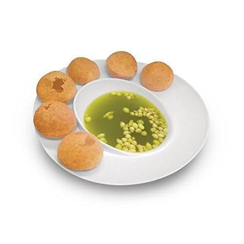 Pani Puri Serving Melamine Dish Bowl Plate - Assorted Colours