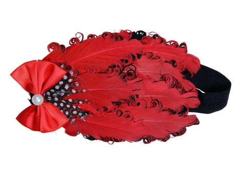Party Reds Feather Head Band