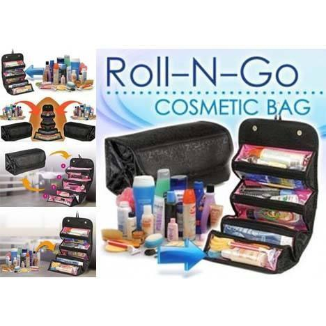 Portable Large Cosmetic Bag (Roll And Go) For Women
