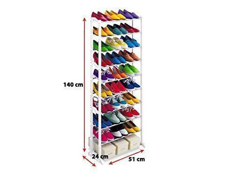 Rack - Tuzech Portable And Foldable 30 Pairs Shoe Rack