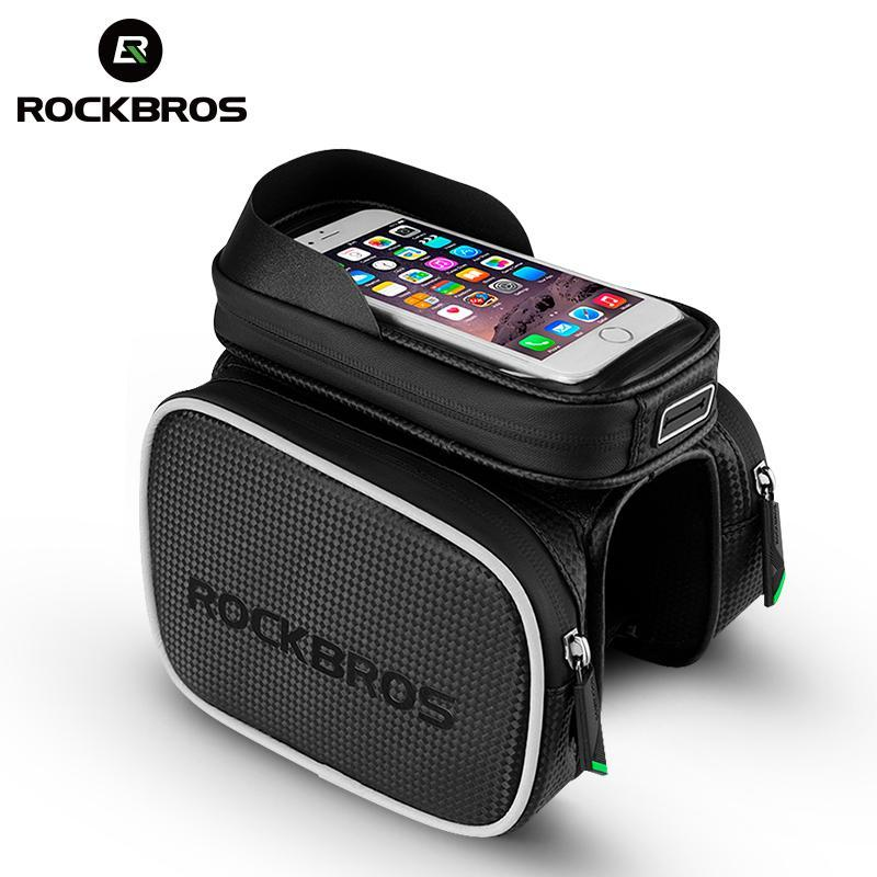 ROCKBROS Bicycle Bike Bag Rainproof Top Tube MTB Cycling Riding Frame Front Head Bags Pannier Cell Phone Bike Accessories Cosmos
