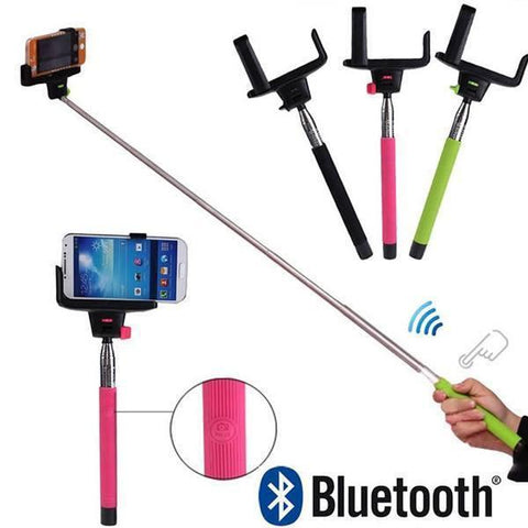 Selfie Stick - Rechargeable Inbuilt Bluetooth Fully Automatic Selfie Stick ( Remote In Stick)