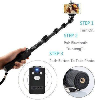 Selfie Stick - Yunteng Extendable Handheld 1288 Pro 2-In-1 Adjustable - Selfie Stick ( Auto)