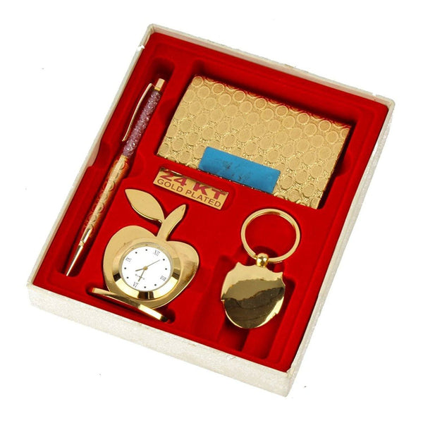 Silver Plated - In Indea Gold Plated(24K) Gift Items Hamper Set ( 4 In 1 )