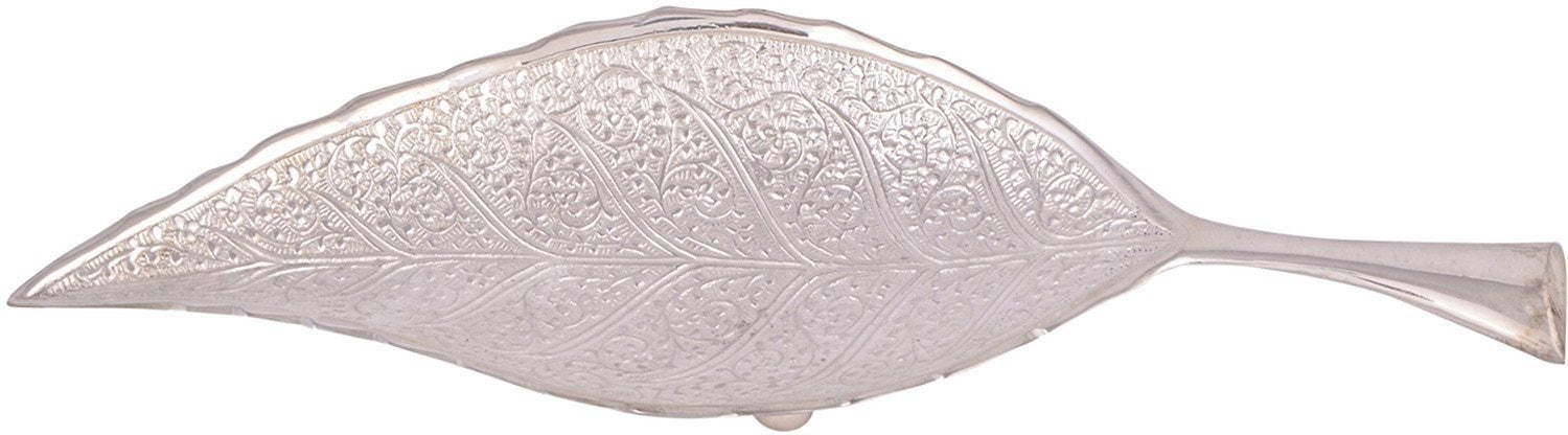 Silver Plated - In Indea Traditional  Silver Plated Leaf Tray